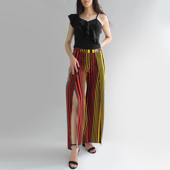 Pantalón abierto rayas – P07T