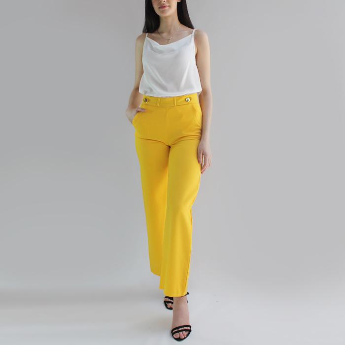 Pantalón Casual Con Botones Adorno – P204