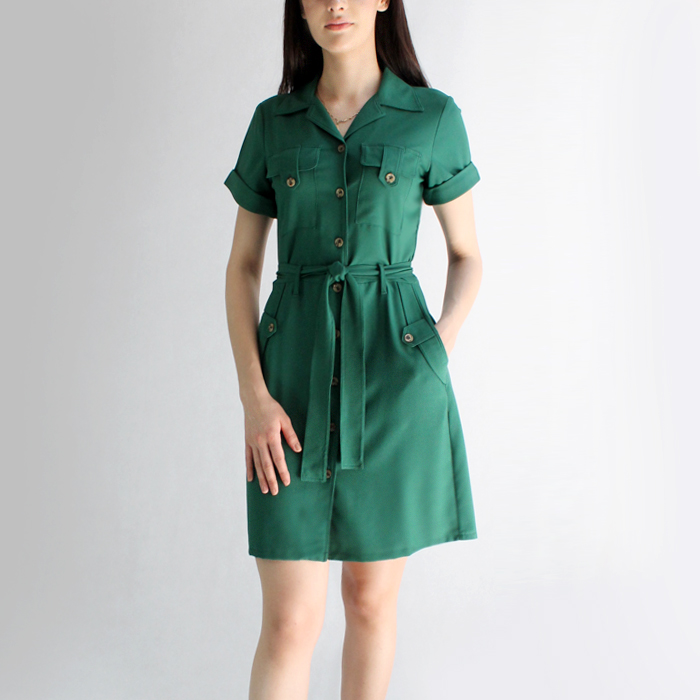 Vestido Con Bolsas – V203