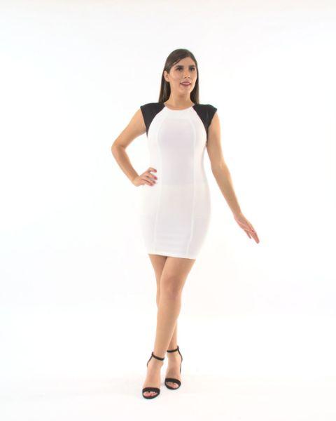 Vestido Combinado Con Cierre – 680