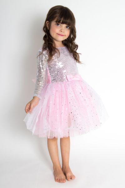 Vestido Plata Con Glitter – 516