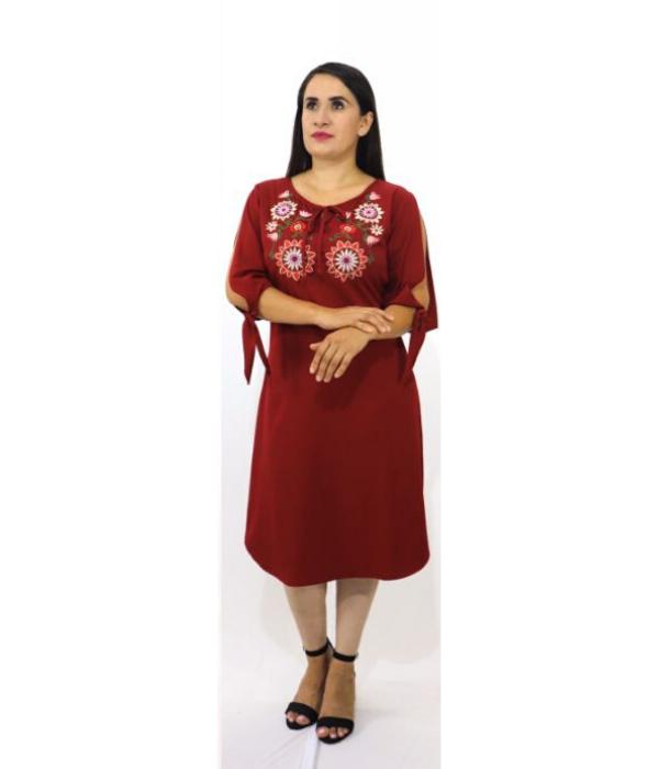 Vestido Liso Bordado – 549