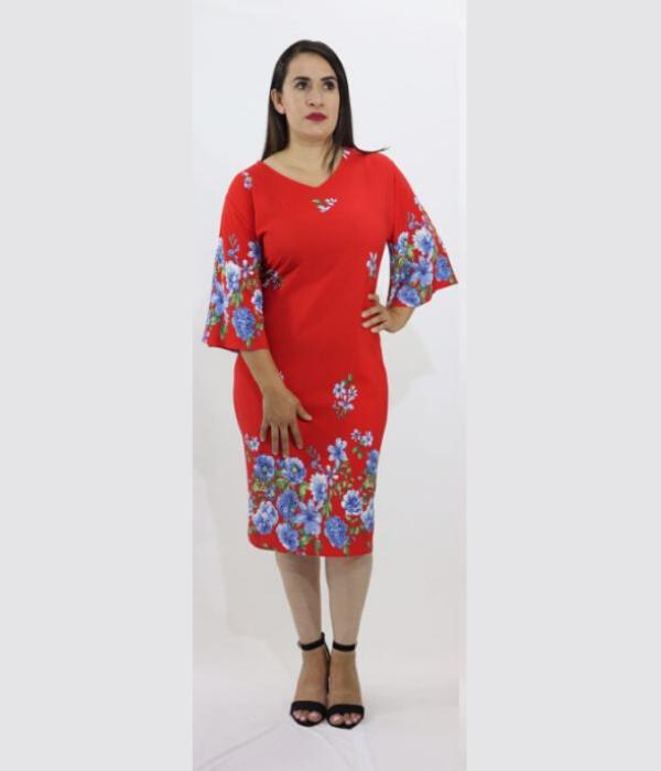 Vestido Cenefa Estampado – 652