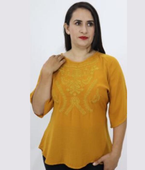Blusa Liso Bordada – 653