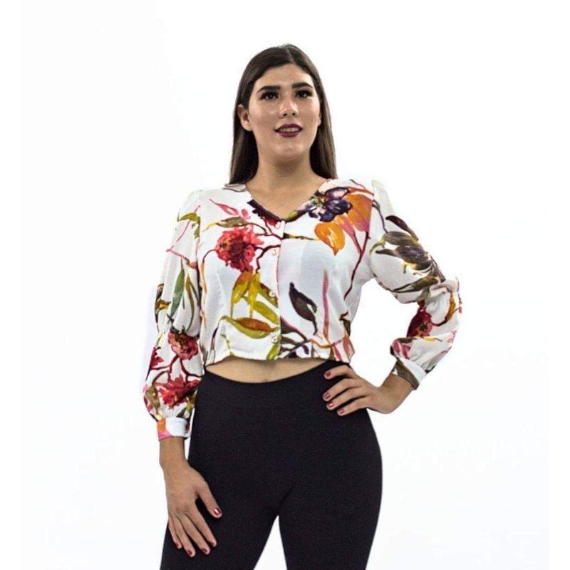 Blusa Estampada Corta Cuello V M.L. – 303