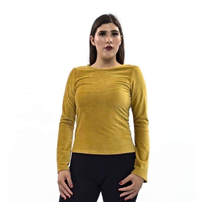 Blusa Lisa M.L. Escote Mesh Encaje en Espalda – 850